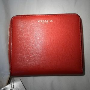 COACH Love Red NWT Saffiano Leather Wallet